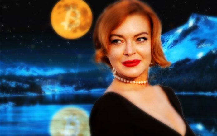 Lindsay Lohan Tweets About Sending Bitcoin to the Moon