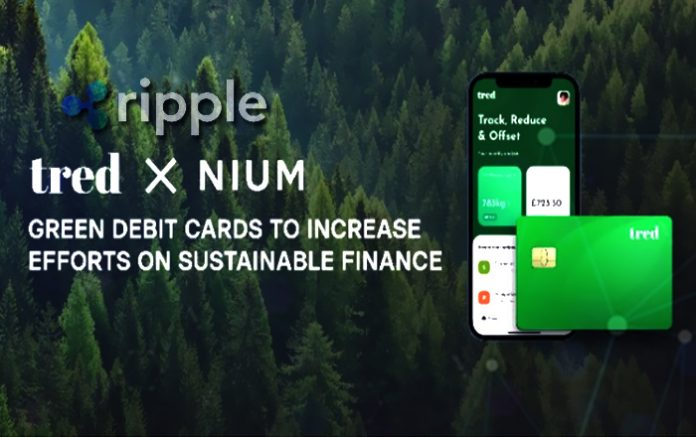 Ripple Client Nium Partners with Tred Fintech to Issue UK's First Green Debit Card